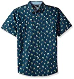 Beverly Hills Polo Club Big Boys' Short Sleeve Shirt, Navy Print, 14/16