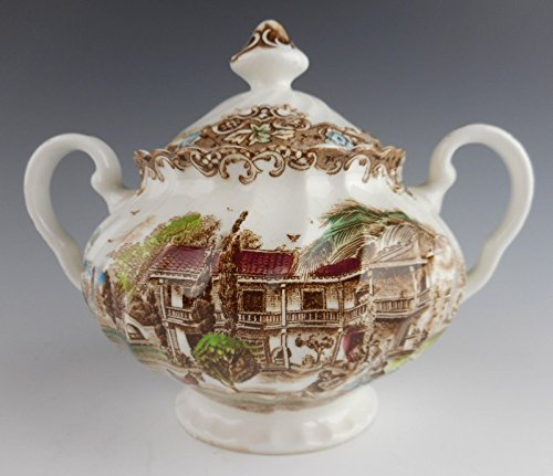 Johnson Brothers HERITAGE HALL-MULTI COLOR Sugar Bowl With -