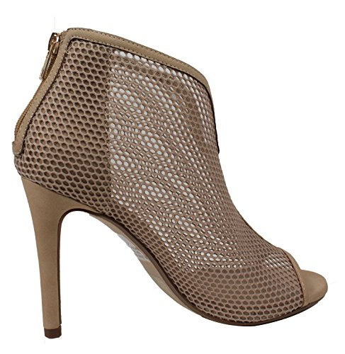 Mesh Natural High Heel Women's Stiletto Toe Open Bootie Ankle Delicious fzxtAwqYXf