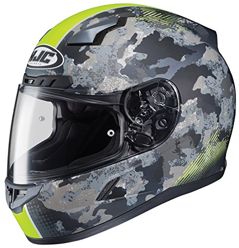 HJC Helmets CL-17 Unisex-Adult Full Face Void Street Motorcycle Helmet (Grey/Neon Green, Medium)