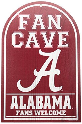 """NCAA Alabama, University of 95165010 University of Alabama Wood Sign, 11"""" x 17"""", Red"""