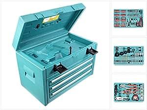 Makita - Caja de herramientas de 3 compartimentos (incluye 126 herramientas para DWAETC 6260, 6261, 6270, 6271, 6280, 6281, 8270, 8271, 8280 y 8281)