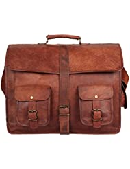 Leather Vintage Rustic Crossbody Messenger Courier Satchel Bag Gift Men Women ~ Business Work Briefcase Carry...