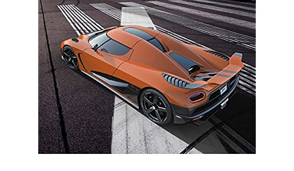 Amazon.com: Koenigsegg Agera R (2013) Car Art Poster Print on 10 mil Archival Satin Paper Orange Rear Side Top Road View 16