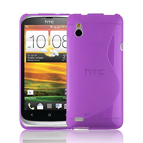 CADORABO ! HTC Desire V TPU [S-STYLE] silicon gel case [SLIM-FLEX] in PURPLE - [Lifetime Warranty]