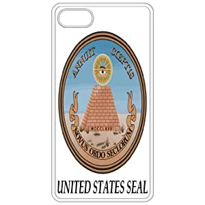 Lesser United States Seal - Coat Of Arms Flag Emblem White Apple Iphone 4 - Iphone 4s Cell Phone Case - Cover