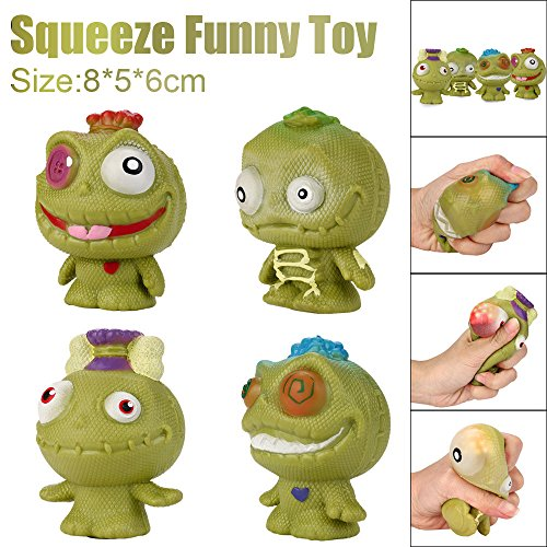 Stress Reliever Toys,Eyes Pop Out Funny Stress Relief Toy Decor Decompression Popping Out Decor Squeeze Toys (B) - Eye Reliever