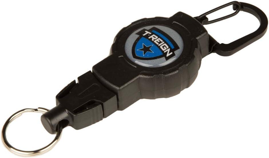 T-REIGN Retractable Gear Tether avec Fox40/Sifflet Noir//Orange