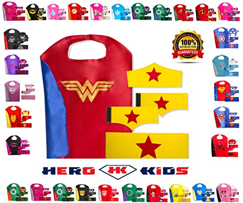 [Red-Blue-Gold Wonder Woman] (Original Toddler Halloween Costumes)