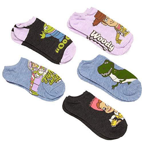 Toy Story 5-pack Buzz, Jessie, Woody, Alien, Rex Women's No Show Socks