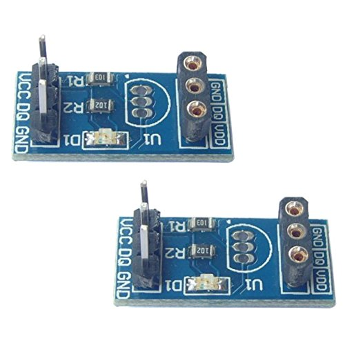 2pcs DS18B20 Temperature Sensor Carrier Holder Module Board without DS18B20 chip from Optimus ()