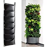 7 Pockets Vertical Wall Planter, Wall Hanging Garden Fence Planters Plant Grow Bag for Herbs Vegetables and Flowers