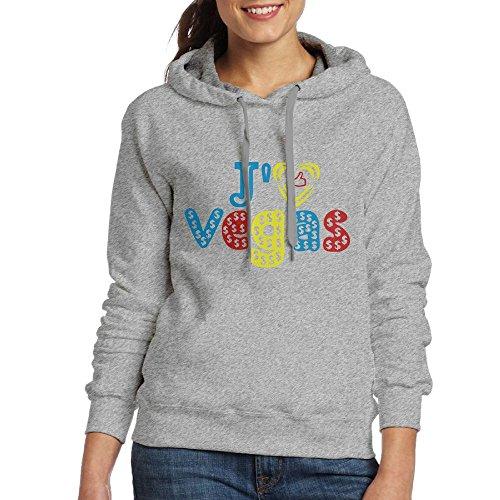 Aohaiqul Aohaiqulj'aime Las Vegas Pop Art Women's Hooded Sweater Size S Color Ash Is Your Sweater, Winter Is The Best Choice. Beautiful, Comfortable, - North Vegas Las Outlet