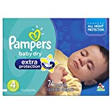pampers baby extra protection - Pampers Baby-Dry Extra Protection Disposable Diapers Size 4, 74 Count, SUPER