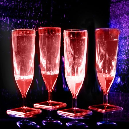 - Liquid Activated Champagne Cups: Red (4-Pack)