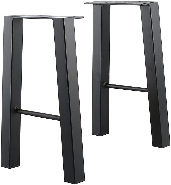 """2x 16/'/'-35/"""" Industry Table Leg Metal Steel Chair Bench Legs DIY furniture Black"""