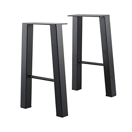 Tengchang Black 16u0027u0027 Industry Table Leg Metal Cast Iron Chair Bench Legs  Baking Finish