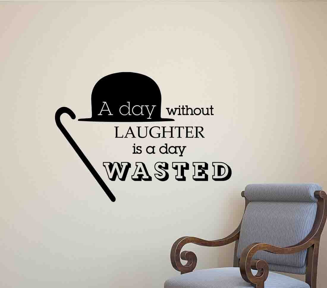 Wasted Laughter Decal Vinyl Wall Sticker Art Home Sayings Popular