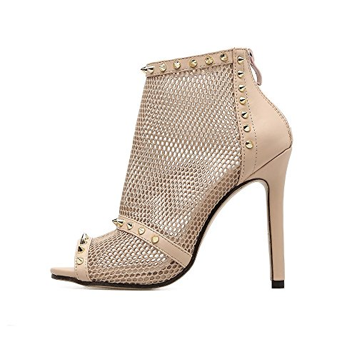 Heels Party Heel Fall Shoes amp; Rivets Club Shoes Summer Sexy ShoesTulle for Wedding Stiletto B Women's Evening Owp0XE
