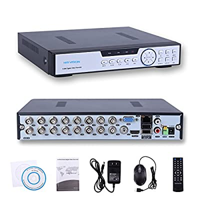HISVISION 16CH 1080N AHD DVR 3-in-1 HVR (1080P NVR+1080N AHD/960H Analog+960P Hybrid) Real-Time Surveillance Security DVR HDMI/VGA Output P2P Cloud Mobile QR Scan Remote Access Motion Detection-No HDD by HISVISION