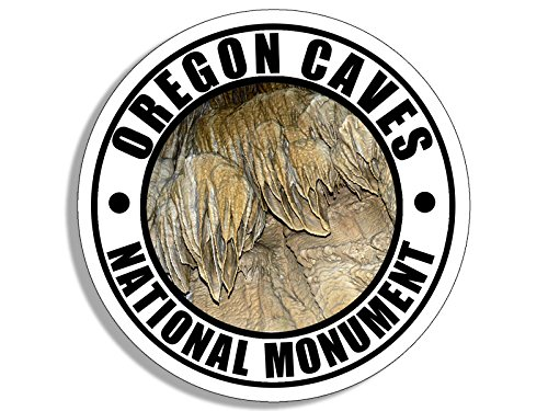 American Vinyl Round Oregon Caves National Monument Sticker (Travel rv - Monument Oregon National Caves