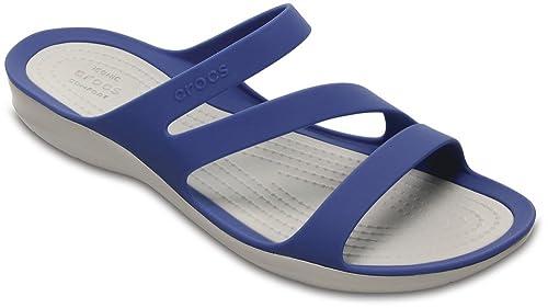 Crocs Swiftwater Sandal Blau Jean/Pearl Weiß Croslite Mejores Precios De Liquidación Las Fechas De Publicación Ost Sneakernews Venta Sat 2018 Más Reciente Aci9R6