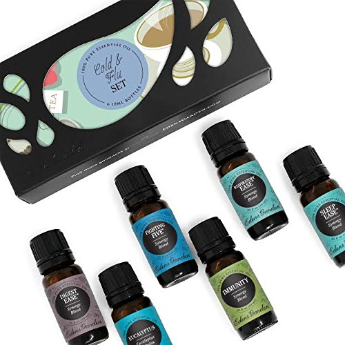 Edens Garden Cold & Flu Essential Oil Set, Best 100% Pure Aromatherapy Starter Kit (For Diffuser & Therapeutic Use), 10 ml
