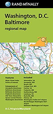 Rand McNally Folded Map: Washington, D.C. & Baltimore (Regional Map)