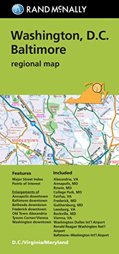 Rand McNally Folded Map: Washington, D.C. & Baltimore (Regional ()