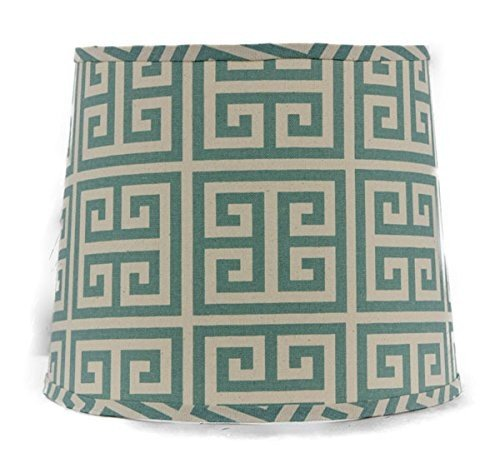 - AHS Lighting SD1436-11WS Greek Key Square Lamp Shade with Washer, 11