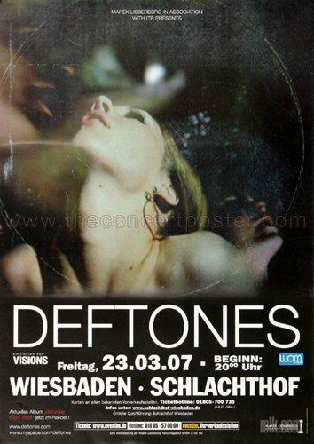 - Deftones - Saturday Night 2007 - Poster, Concertposter, Concert