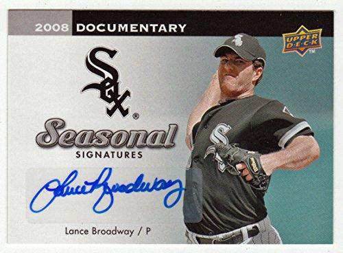 Lance Broadway (Baseball Card) 2008 Upper Deck Documentary Seasonal Signatures # LB NM/M Autograph