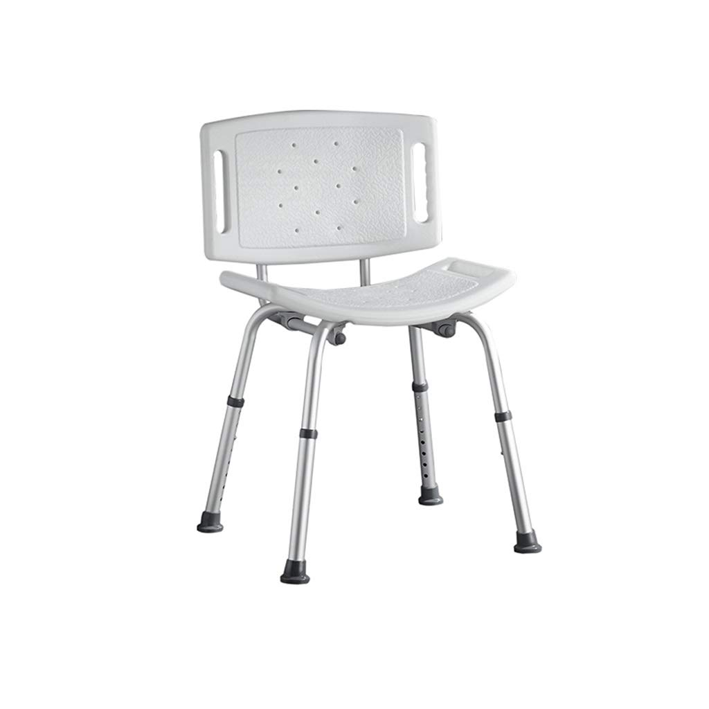 Beauty Shower Chair with Safety Backrest Height Adjustable Portable Medical Stool Non-Slip Bath Chair Bath Bench for The Disabled (Color : A) by BEAUTY--shower stool