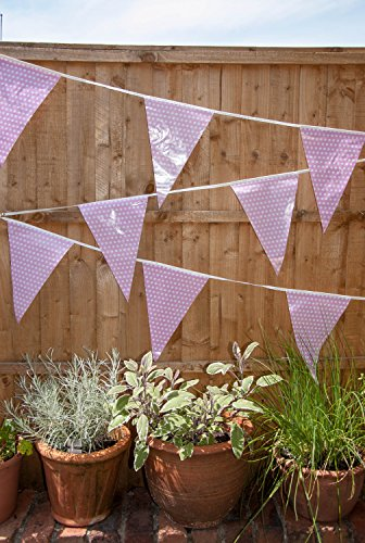Pale Pink Polka Dot Banner Pennant Flags for Girl Baby Shower Party (C1010)