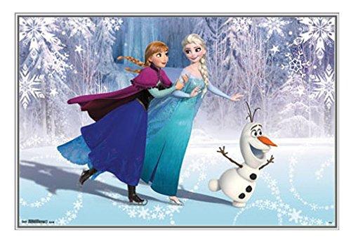 フリーズフレーム入りポスター – Anna , Elsa and Olaf – Nielsen Bainbridgeメタルフレーム34 x 22 34Wx24L シルバー FSR09K39-123 B00QCP71XQシルバー