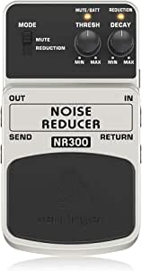 Behringer Noise Reducer NR300 Ulitmate Noise Reduction Instrument Effects Pedal,Black and Silver