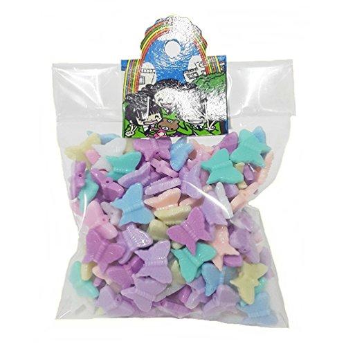 150 pcs Butterfly beads Pastel DIY Kids Craft Handcraft Home Decor 15 x13 mm