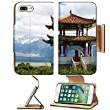 iPhone 7 Plus/7s Plus Wallet Case,MSD Unique Custom Phone Case Leather Design for architecture culture travel asia chinese religion china asian traditional temple old tourism history ancient oriental
