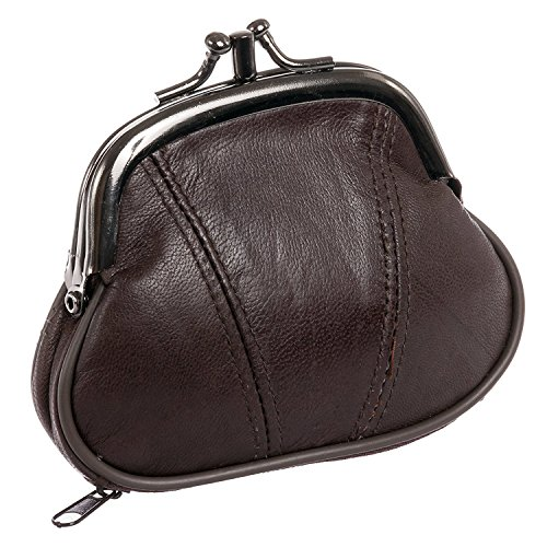 Marshal Womens Leather Kiss Purse