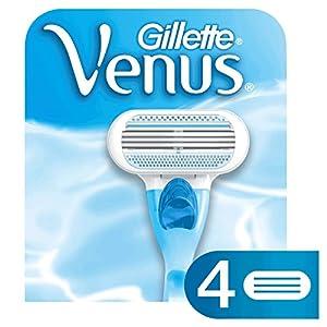 Gillette Venus Women's Original 3 Blade Razor Refills, 4 Count