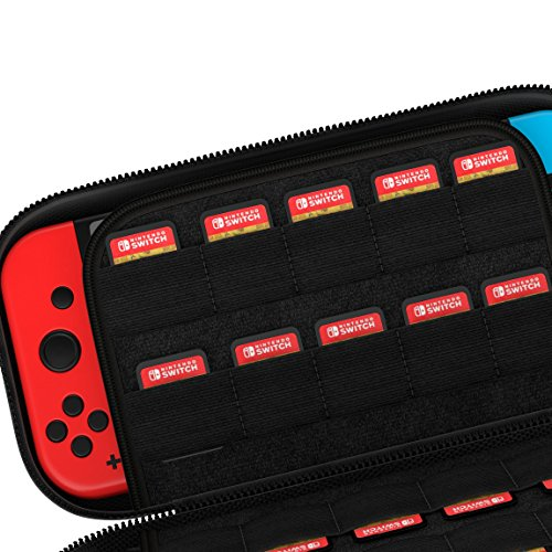 The Nintendo Switch Carrying Case [Holds 29 Games] Premium Quality Protective Portable Hard Carry Case Pouch for Nintendo Switch Console Accessories - Best Game Travel Case Black