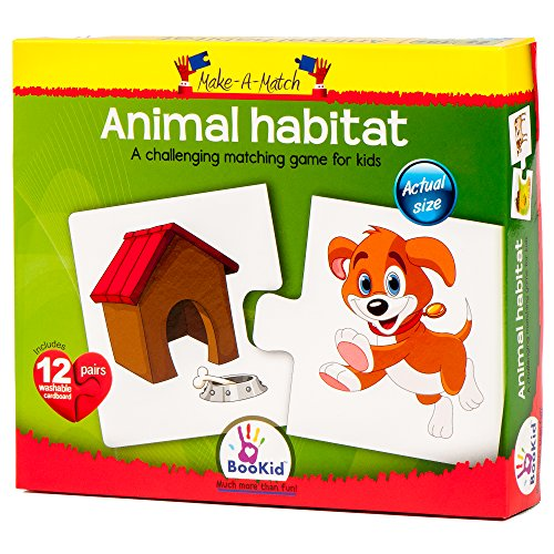 Puzzle Games For Toddlers Make a Match Animal Habitat - Puzz