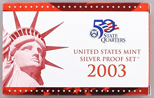 2003 S U.S. Mint 10-coin Silver Proof Set - OGP box & COA Proof