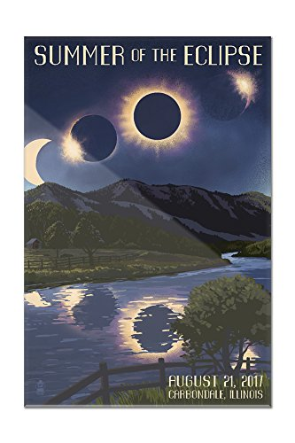 Carbondale, Illinois - Solar Eclipse 2017 - Summer of the Eclipse (12x18 Acrylic Wall Sign) by Lantern Press