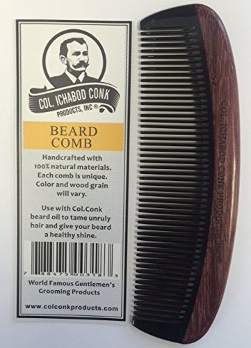 Handcrafted Violet Wood/Horn Beard Comb measures 5 1/2