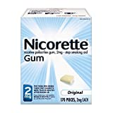 Nicorette Gum 2 mg Original - 170 ct, Pack of 2
