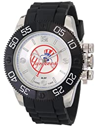 Game Time Men's MLB-BEA-NY5 Beast NY Yankees (Top Hat) Round Analog Watch