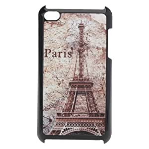Frosted Luxury Paris Tower Pattern Hard Case For iPod Touch 4 4G.