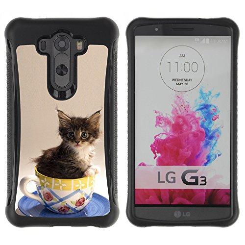 STPlus Gato en una caja Animal Carcasa Funda de Caucho Blando A Prueba de Choques Para LG G3 #21