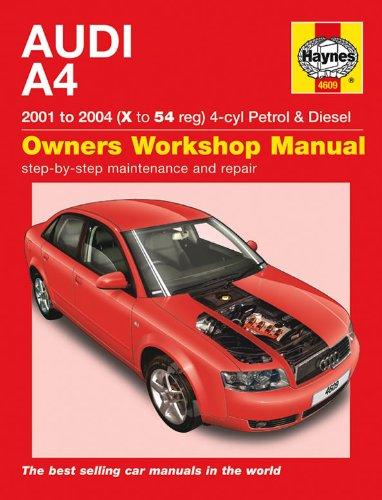 Haynes Audi A4 gasolina & diesel Manual 2001 – 2000